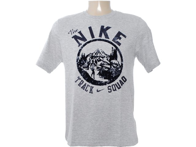 Camiseta Masculina Nike 481634-063 Cinza/marinho