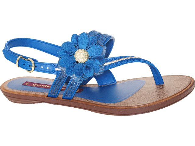 Sandália Feminina Grendene Grendha 16331 Marrom/azul