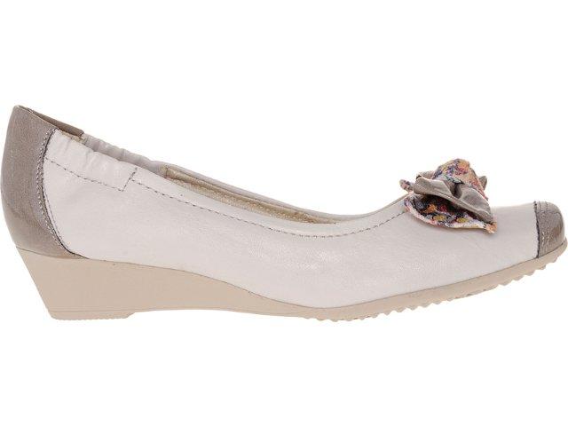 Sapato Feminino Piccadilly 320.081 Gelo/nozes