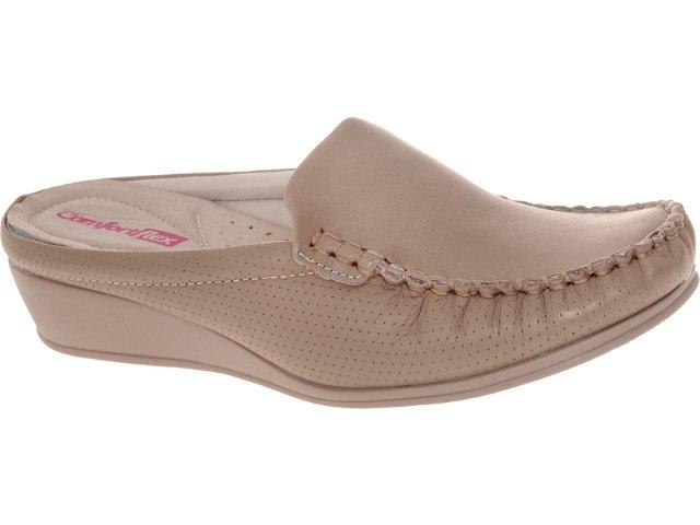 Mule Feminino Comfortflex 93401 Amendoa