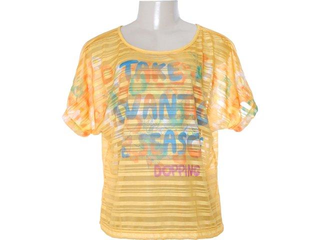 Blusa Feminina Dopping 015652509 Ouro Velho