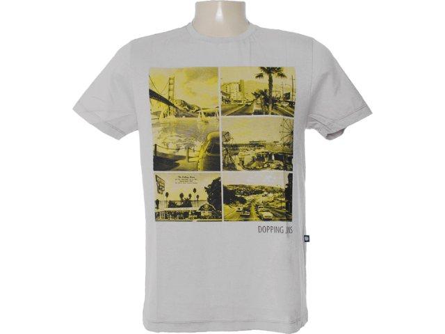Camiseta Masculina Dopping 015062500 Cinza
