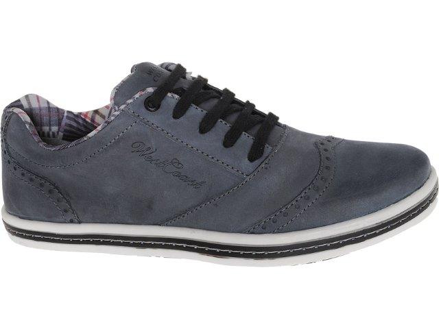 Sapato Masculino West Coast 78201/02 Preto Estonado