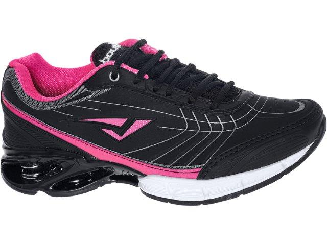 Tênis Feminino Bouts 7723 Preto/pink