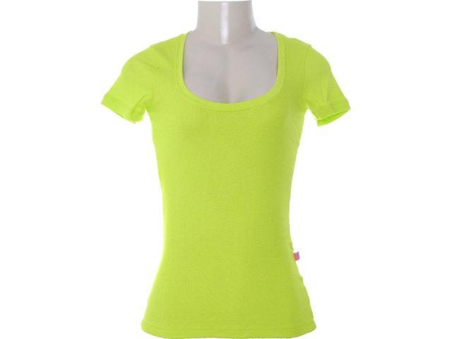 Camiseta Feminina Coca-cola Clothing 343200582 Verde Limão