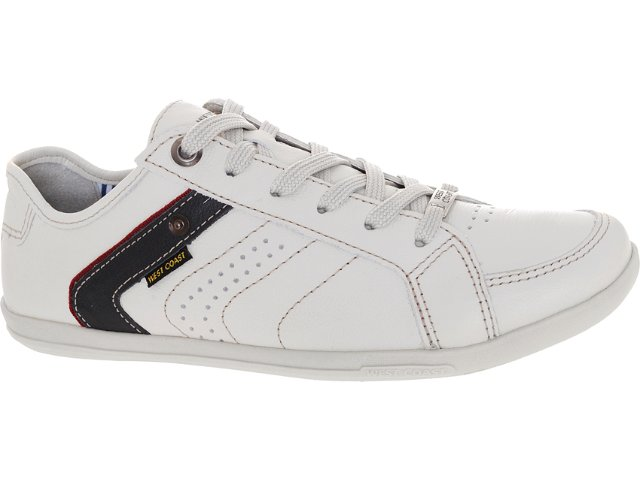 Sapatênis Masculino West Coast 75407/1465 Off White/ Marinho