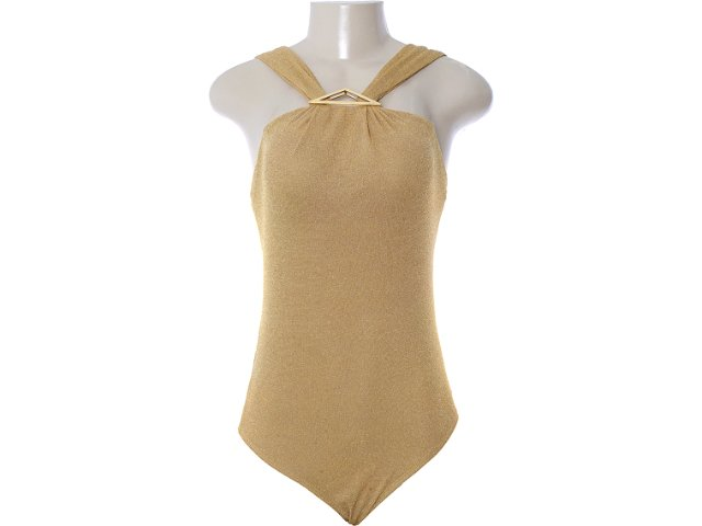Body Feminino Dopping 016252509 Dourado