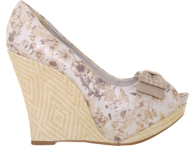 Peep Toe Feminino Dakota 4523 Natural