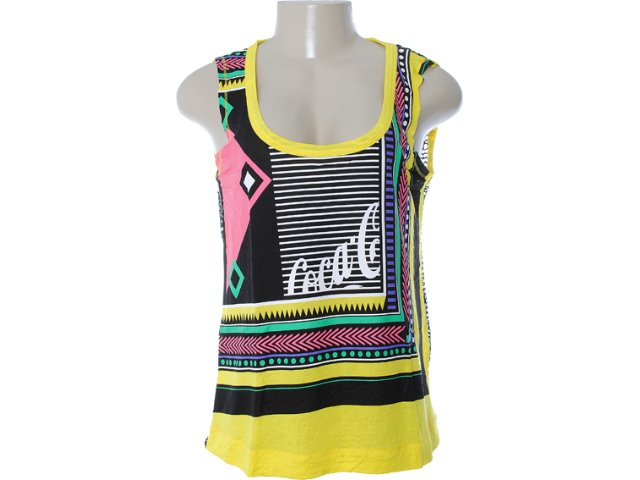 Regata Feminina Coca-cola Clothing 383200419 Amarelo