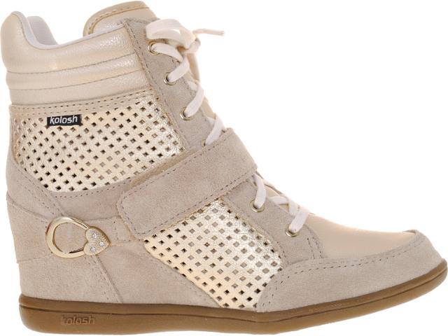 Sneaker Feminino Kolosh C0092 Areia/dourado