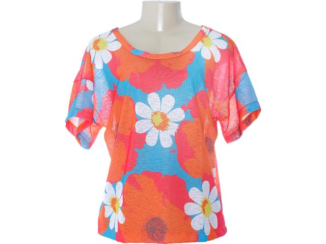 Blusa Feminina Dopping 015652507 Floral Color