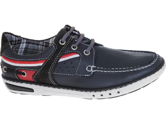 Sapato Masculino Pegada 12102-10 Navy/chumbo/vermelho