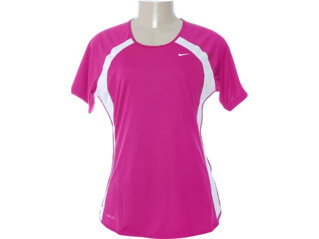 Camiseta Feminina Nike 458962-600 Violeta/branco