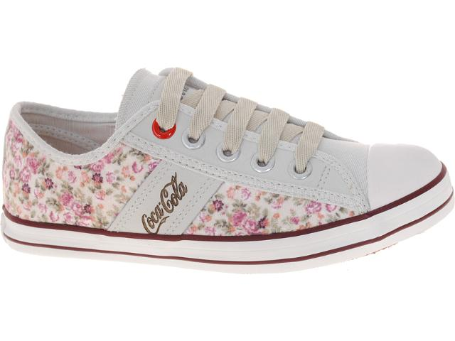 Tênis Feminino Coca-cola Shoes Cc0145 Floral