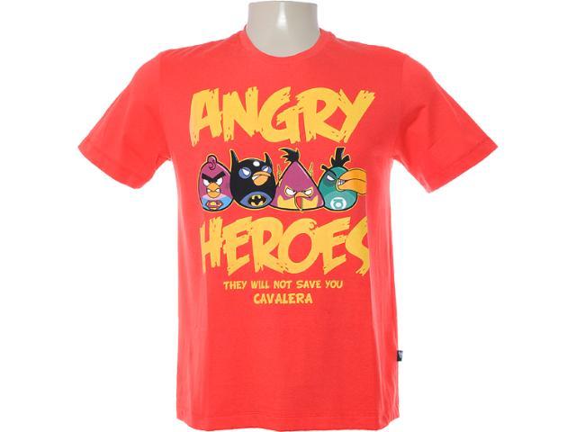 Camiseta Masculina Cavalera Clothing 01.01.6751 Vermelho