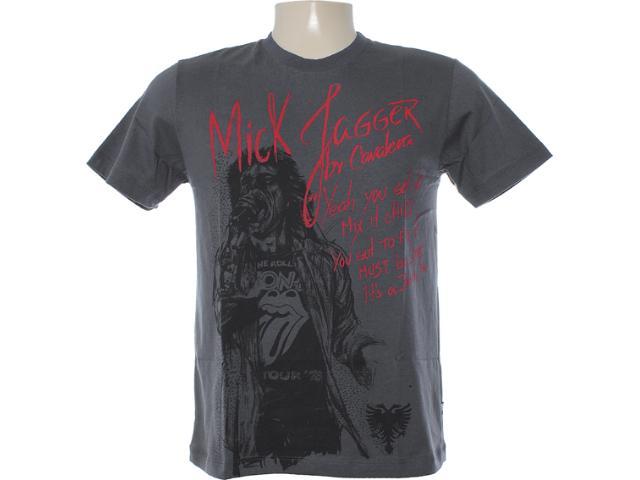 Camiseta Masculina Cavalera Clothing 01.01.5845 Chumbo