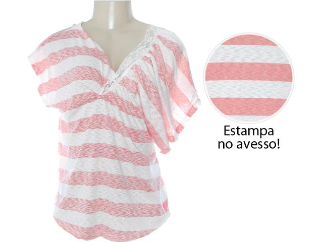 Blusa Feminina Coca-cola Clothing 363202489 Off White/laranja