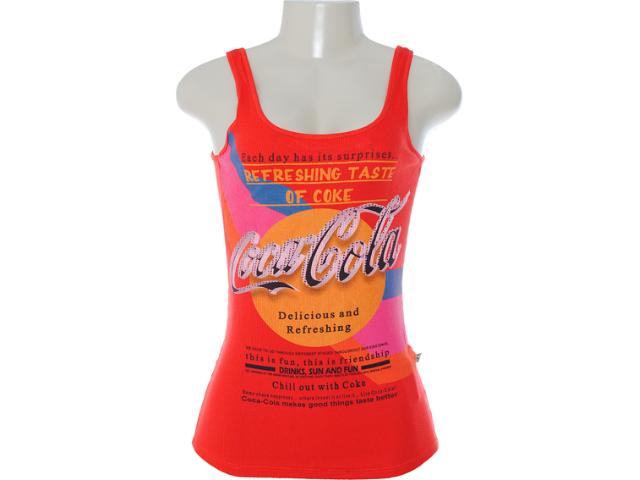 Regata Feminina Coca-cola Clothing 383200405 Vermelho