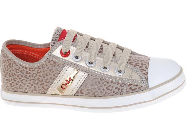 Tênis Feminino Coca-cola Shoes Cc0205 Caqui