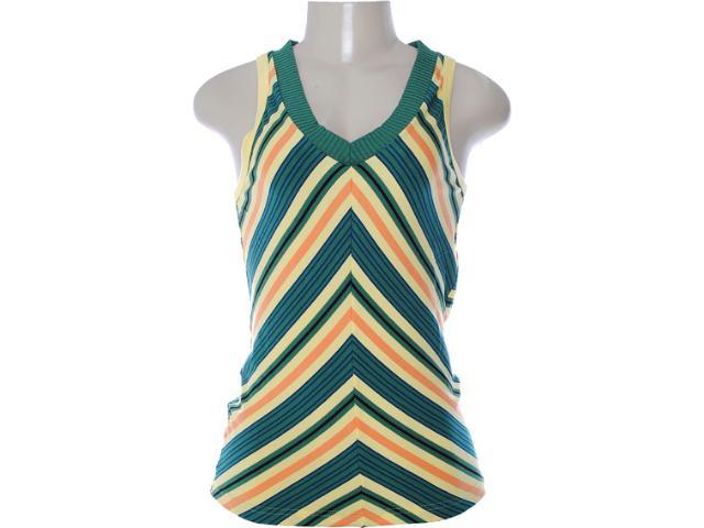 Regata Feminina Dopping 015752501 Amarelo/verde