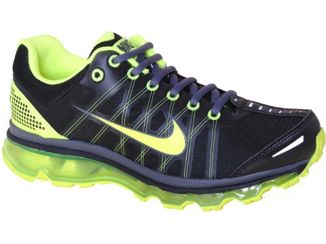 Tênis Masculino Nike 486978-003 Air Max + 2009 Preto/limão