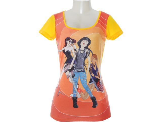 Camiseta Feminina Coca-cola Clothing 343200578 Amarelo