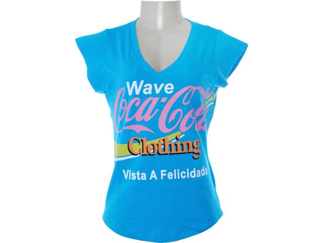 Blusa Feminina Coca-cola Clothing 343200622 Azul