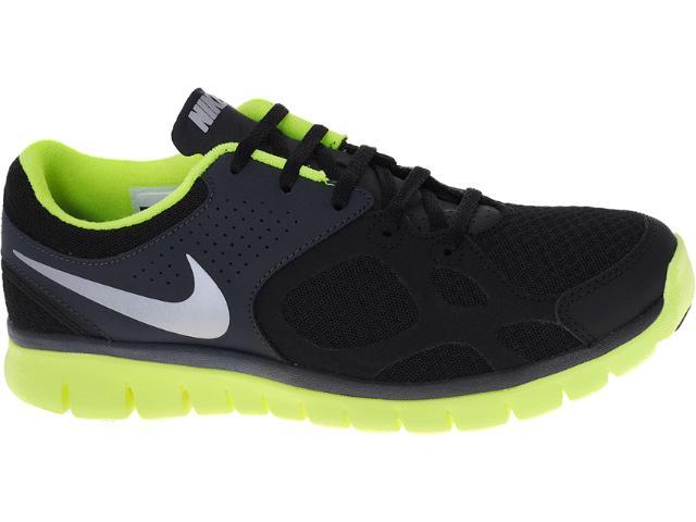 Tênis Masculino Nike 512019-007 Flex 2012 rn Preto/limão