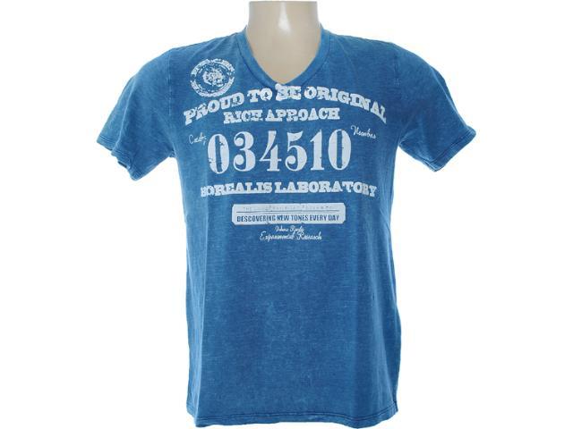 Camiseta Masculina Dzarm 6bwh Au410 Azul Estonado