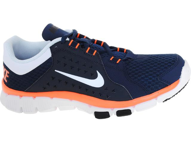 Tênis Masculino Nike 525730-400 Flex Supreme tr Marinho/laranja