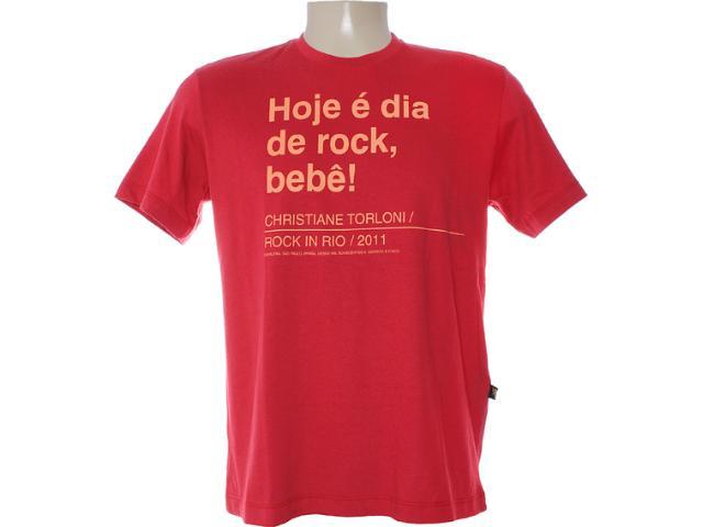 Camiseta Masculina Cavalera Clothing 01.01.6769 Vermelho