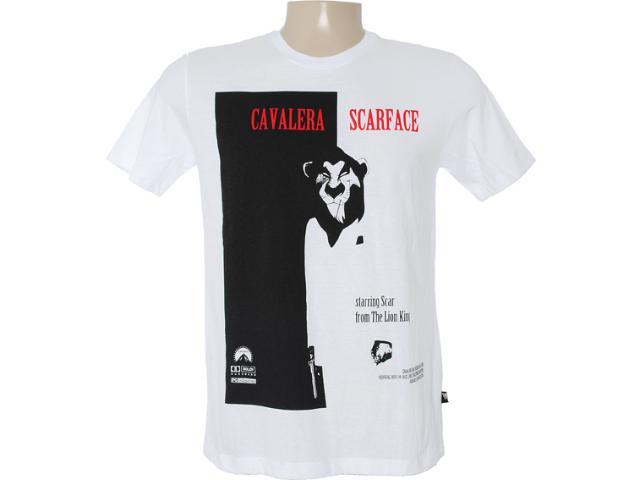 Camiseta Masculina Cavalera Clothing 01.01.6709 Branco