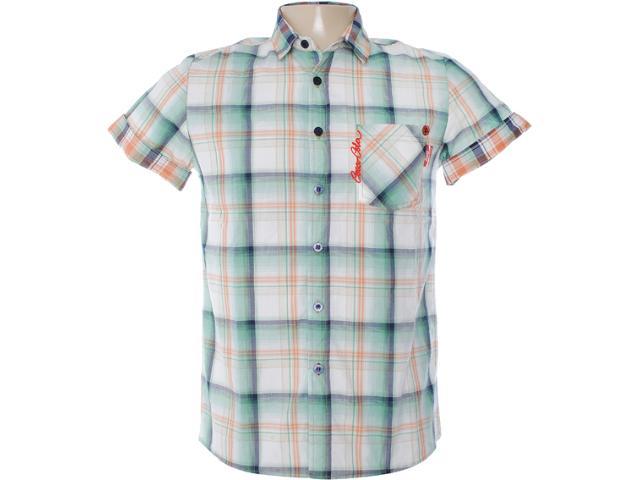 Camisa Masculina Coca-cola Clothing 313200298 Xadrez Verde