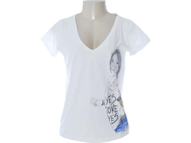 Camiseta Feminina Coca-cola Clothing 343200618 Off White