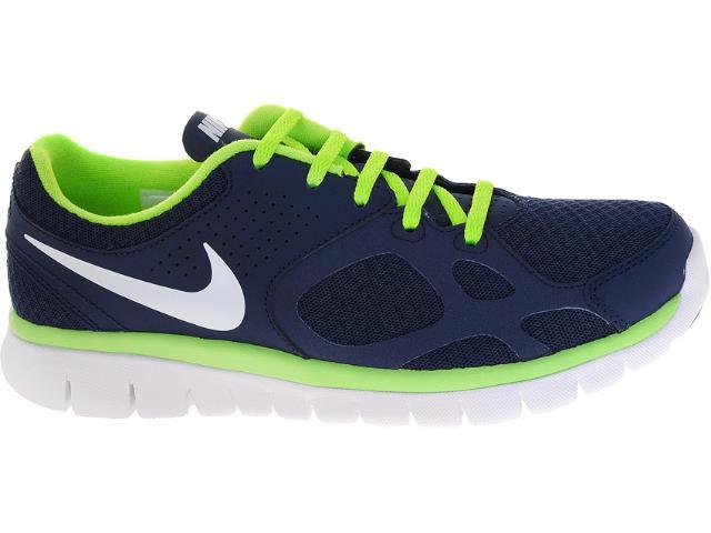 Tênis Masculino Nike 512019-401 Flex 2012 rn Marinho/limão