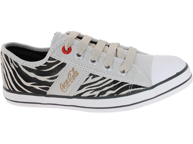 Tênis Feminino Coca-cola Shoes Cc0144 Zebra