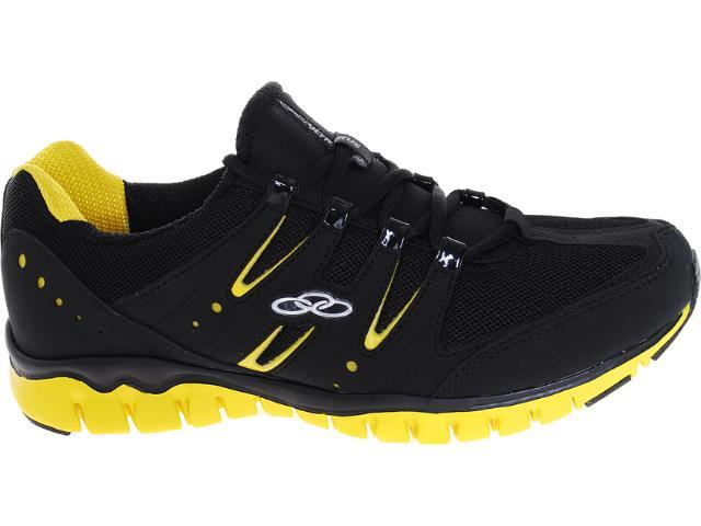 Tênis Masculino Olympikus Easy 881 Preto/amarelo