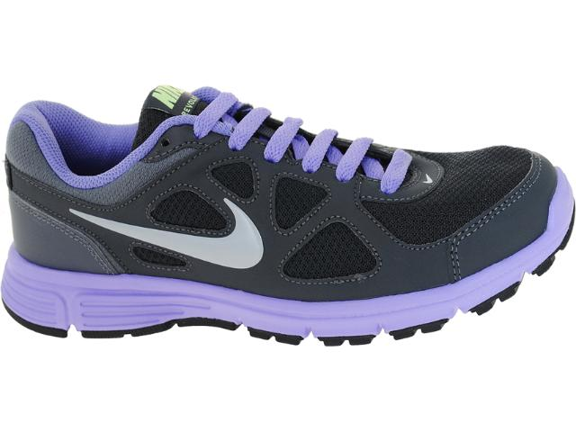 Tênis Feminino Nike 488151-010 Revolution Msl Chumbo/lilas