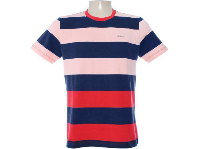 Camiseta Masculina Dopping 015062508 Salmão/marinho