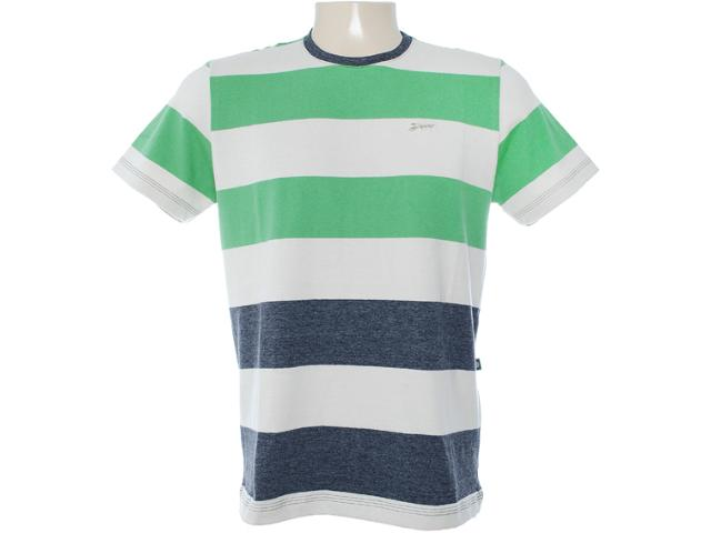 Camiseta Masculina Dopping 015062508 Bege/verde