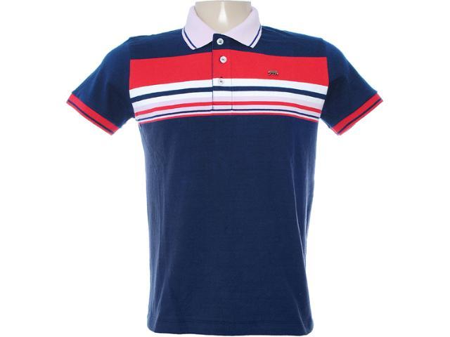 Camisa Masculina Dopping 015462522 Marinho/rosa