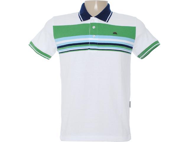 Camisa Masculina Dopping 015462522 Branco/verde