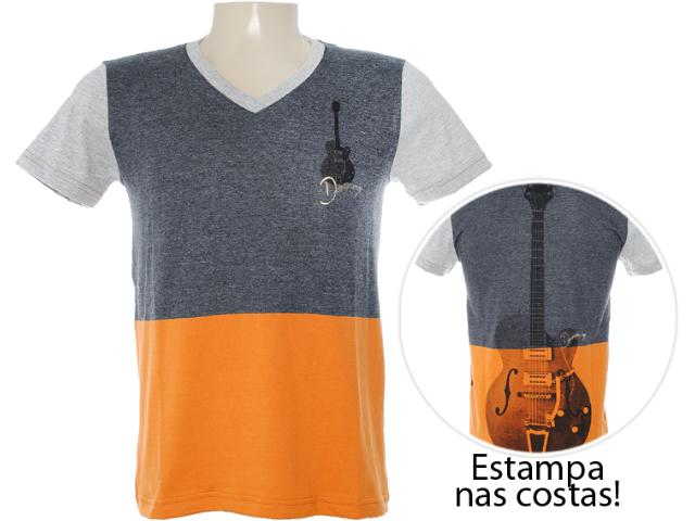 Camiseta Masculina Dopping 015262546 Preto Estonado
