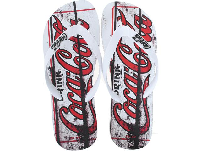 Chinelo Masculino Coca-cola Shoes Cc0127 Branco
