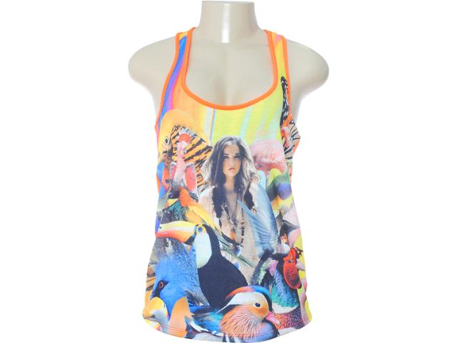 Regata Feminina Coca-cola Clothing 383200409 Estampado Laranja
