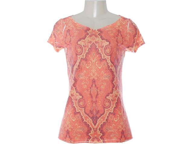 Camiseta Feminina M.officer 115304098 Coral