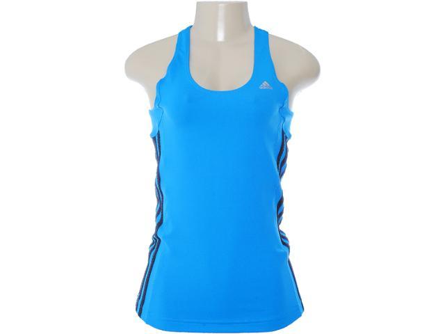 Regata Feminina Adidas W67499 Azul/preto