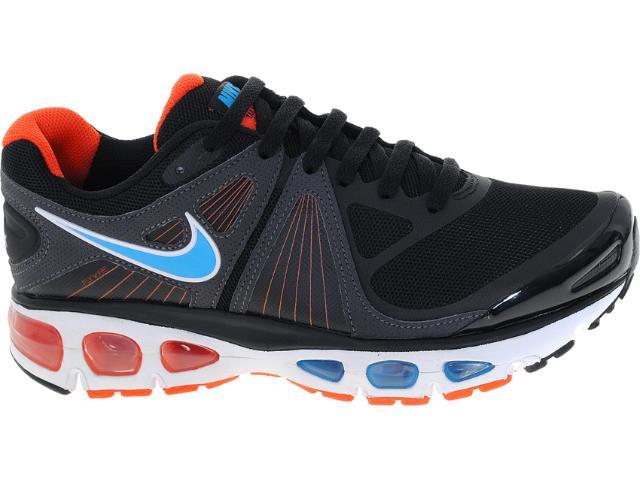 Tênis Masculino Nike 453976-048 Air Max Tailwind +4 Preto/laranja/azul