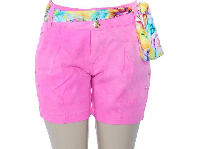 Bermuda Feminina Lado Avesso 80165 Pink