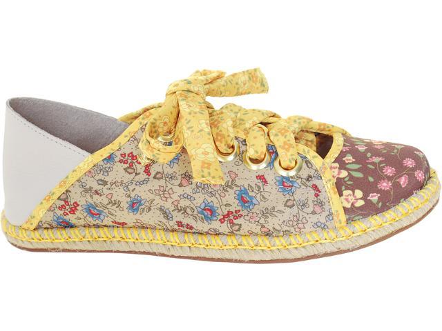 Alpargatas Feminina Cravo e Canela 88602/15750 Floral Amarelo